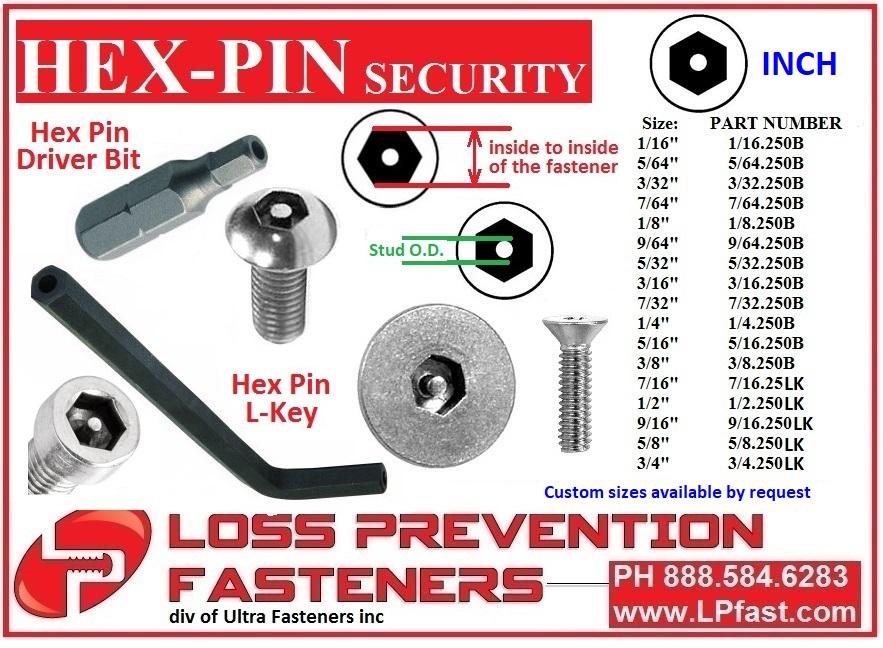 Hex Pin Security Tools - lpfast.com